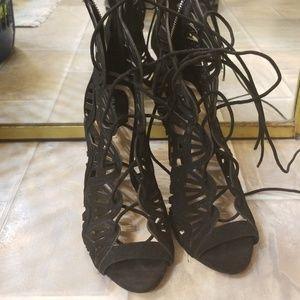 Zara laced up high heels